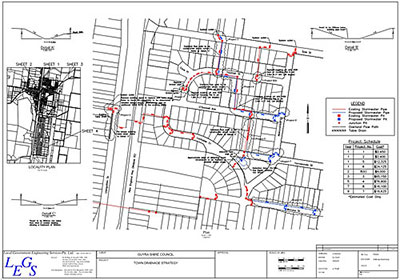 Drainage Strategy Plan For The Township Of Guyra, NSW