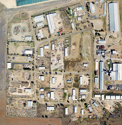 Moree industrial subdivision aerial view
